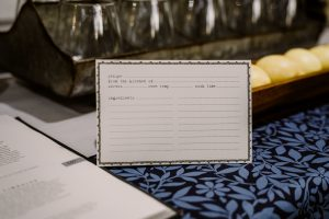 recipe exchange cards farmhouse tablescape