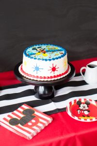 mickey mouse birthday party cake