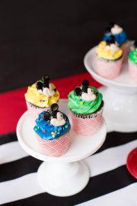 mickey mouse cupcakes at a mickey mouse party