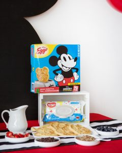 waffle bar ideas at a mickey mouse birthday party