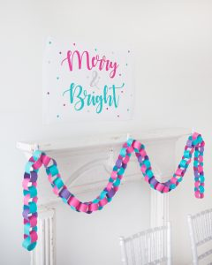 DIY paper garland for a merry and bright christmas