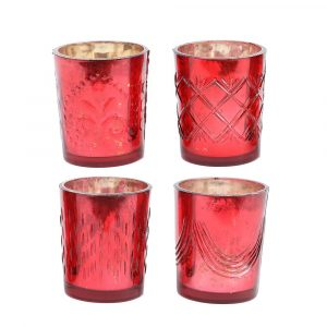 red votive candle holders gift ideas for the hostess