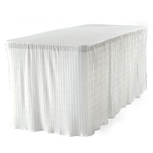 white fitted tablecloth gifts for the hostess