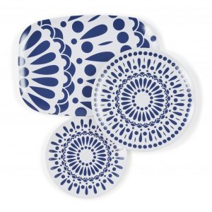 blue melamine plates gifts for the hostess