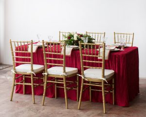 a formal holiday tablescape
