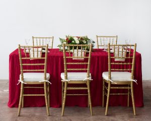 formal christmas tablescape