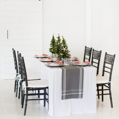 How to Style a Coastal Christmas Tablescape
