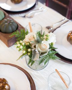 fall floral for a thanksgiving tablescape
