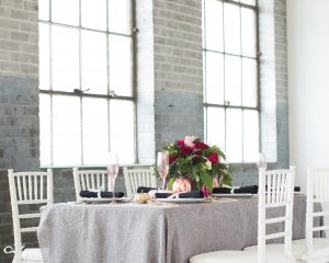 pink and gray tablescape ideas