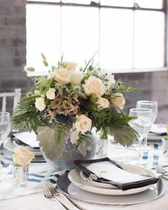 winter bridal centerpiece