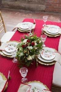 christmas centerpiece formal holiday tablescape