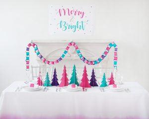 merry and bright christmas tablescape