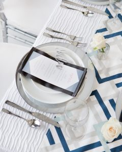 modern wedding ideas silver and blue bridal