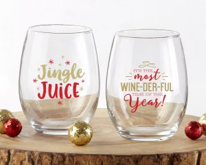 holiday wine glasses gift ideas for the hostess
