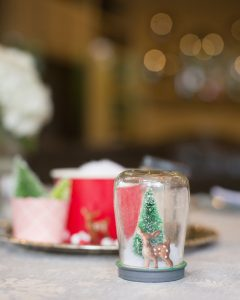 snow globes made from baby food jars