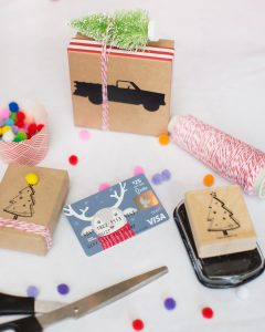 embellished gift box for holiday gift cards