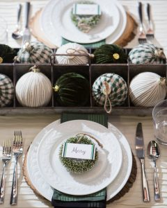 farmhouse holiday placecards
