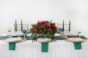 formal holiday tablescape