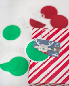 DIY paper ornament gift card holder