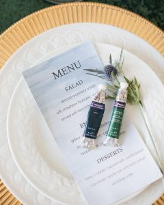 DIY watercolor table details watercolor menu