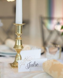 DIY place cards winter wonderland table ideas