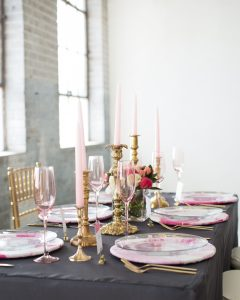 Galentines day table decor