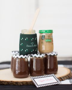 DIY apple butter party favor