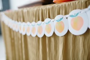 peach printable banner for a peach theme