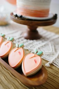 peach cookies for a sweet peach theme