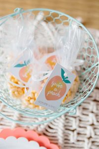 peach birthday party favors