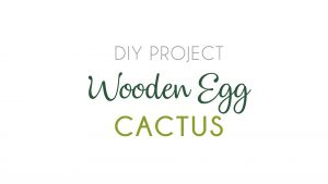 Wooden egg cactus DIY project