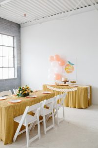 peach birthday party ideas