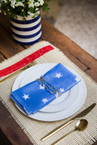 DIY spray painted napkin