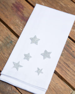 DIY spray painted napkins
