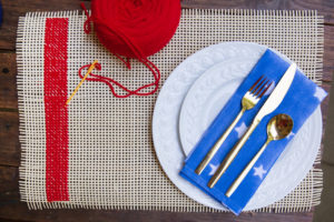 DIY woven placemat