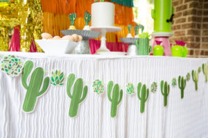 cactus banner for a fiesta theme