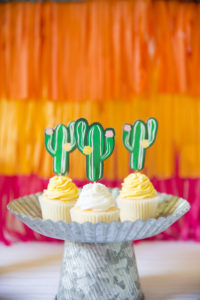cactus cupcake toppers for a fiesta theme