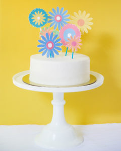 printable floral cake toppers