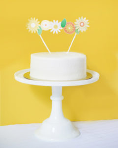 floral bunting cake topper