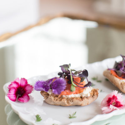 Wow Summer Party Guests with this Colorful Salmon Crostini
