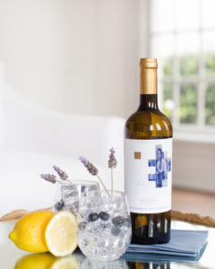 summer sangria with lavender