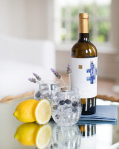 white wine sangria with lavender