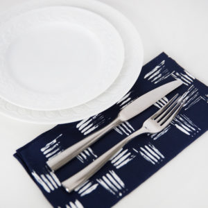 how to paint napkins with a fork