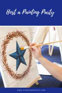 how to host a painting party