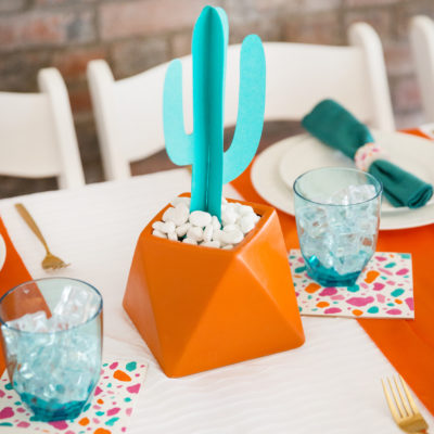 How to Create a Paper Cactus Centerpiece