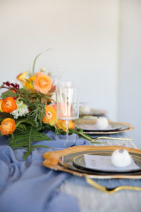 fall tablescape and disposable wine glass