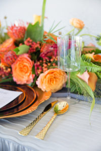 fall table setting details