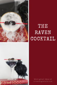 the raven halloween cocktail
