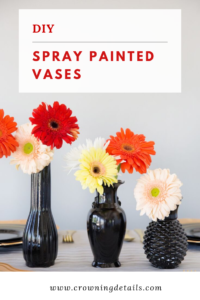 DIY spray painted vases