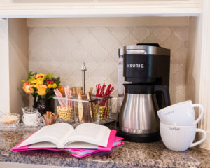 how to set up a coffee bar